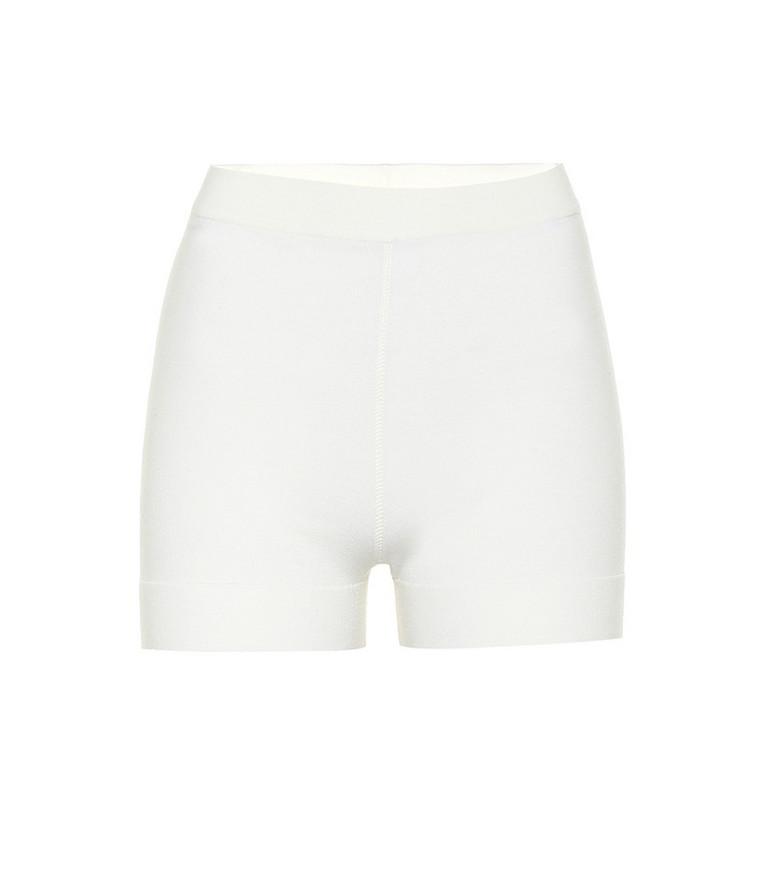 Alaïa High-rise wool-blend shorts in white