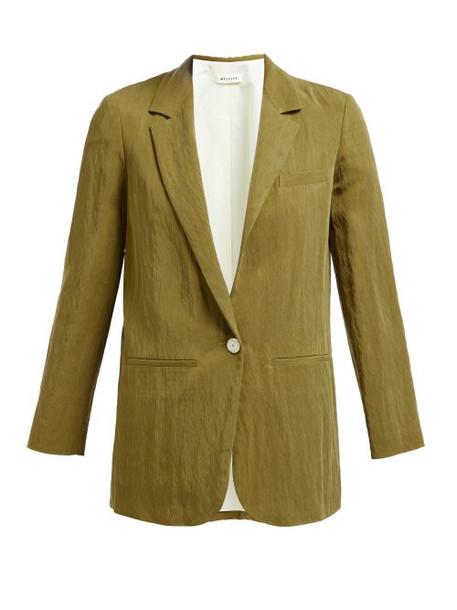 Masscob - Single Breasted Twill Blazer - Womens - Khaki