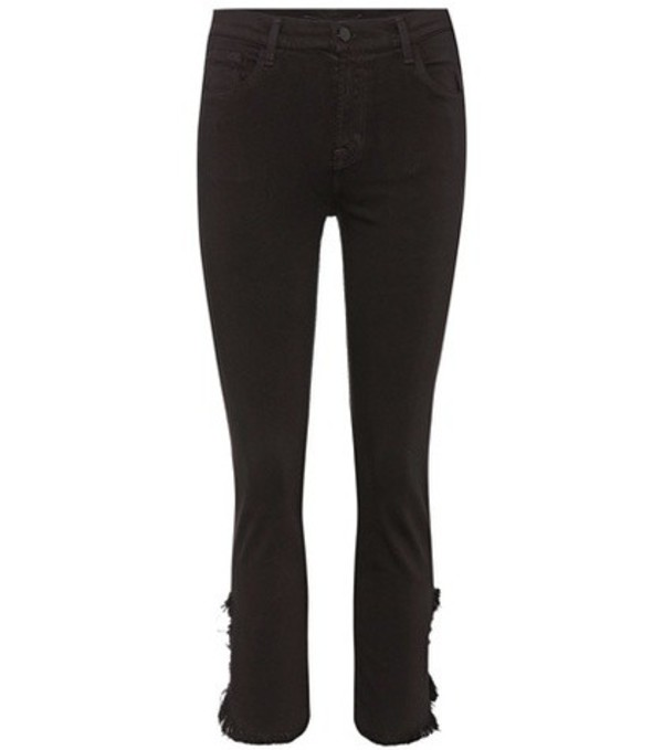 J Brand Ruby cropped skinny jeans in black