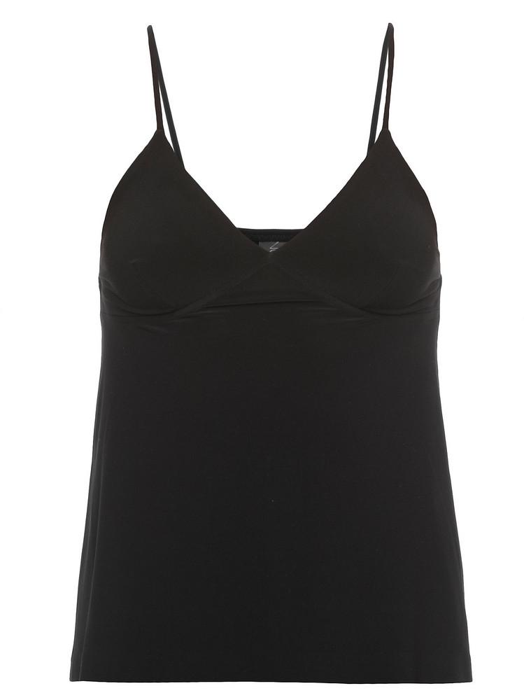 Norma Kamali Stretch Top in black
