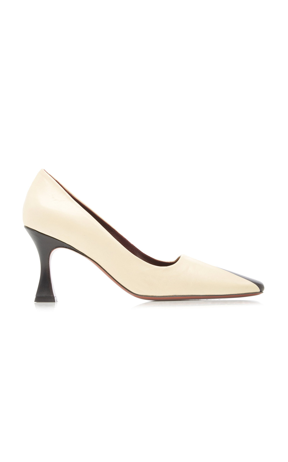 Manu Atelier Duck Two-Tone Leather Pumps Size: 37 in black