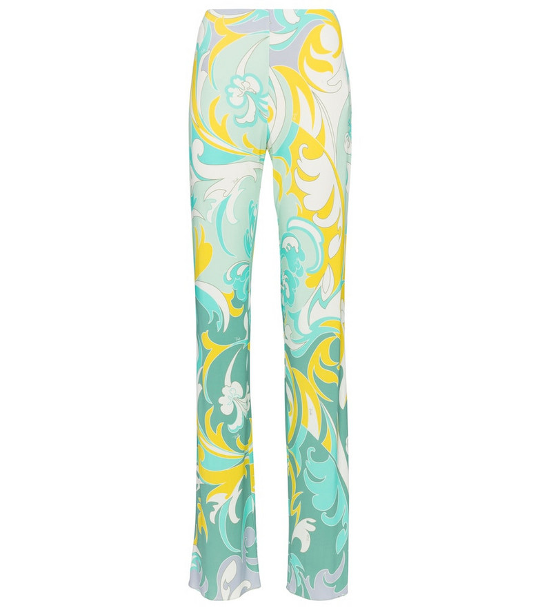 Emilio Pucci Dinamica printed jersey pants in blue