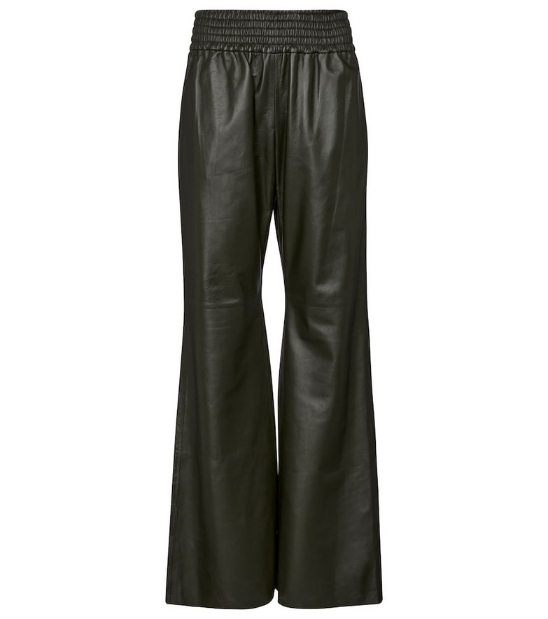 Gabriela Hearst Themis high-rise leather pants in green