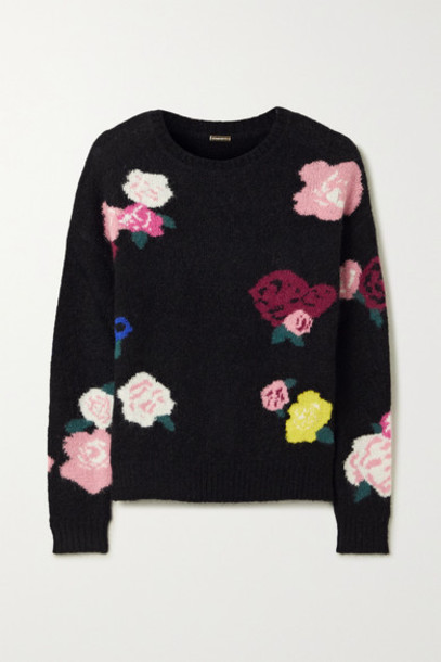 Adam Lippes - Intarsia Mohair-blend Sweater - Black