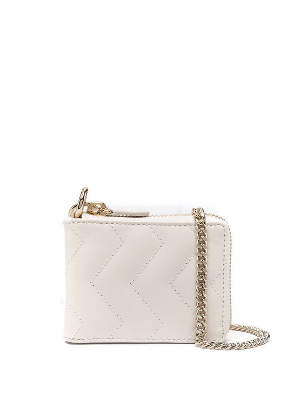 Sandro Paris quilted leather mini bag in white