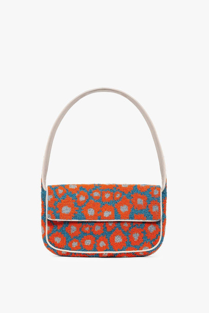 Staud TOMMY BEADED BAG | DAISY BLUE