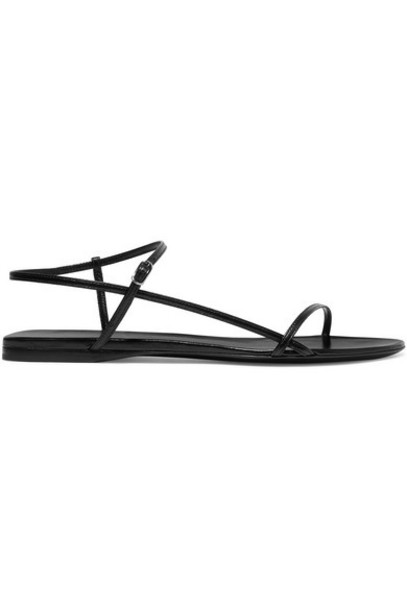 The Row - Bare Leather Sandals - Black