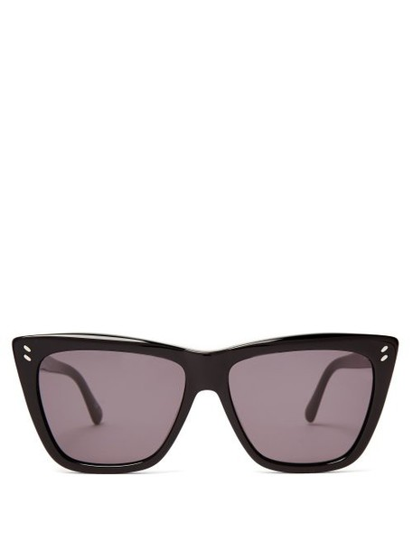 Stella Mccartney - Cat Eye Acetate Sunglasses - Womens - Black