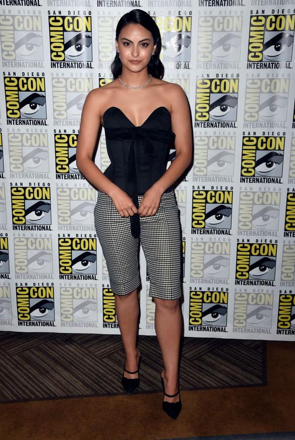 top bustier bustier top camila mendes celebrity shorts comic con