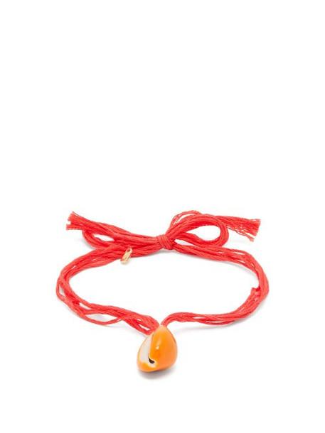 Aurélie Bidermann - Takayama Seashell Charm Anklet - Womens - Red