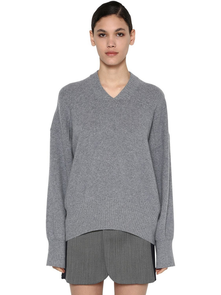 SPORTMAX Cashmere Knit Sweater in grey