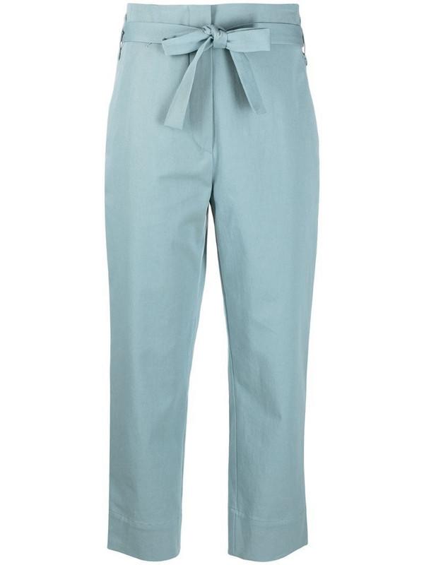 Odeeh tie-waist cropped trousers in blue