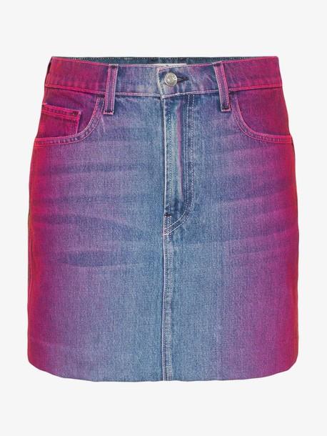 Jordache rainbow wash denim mini skirt