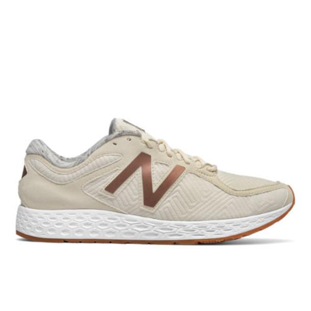New Balance Fresh Foam Zante Rose Gold Women's Sport Style Shoes - Off White/Brown (WLZANTAC)