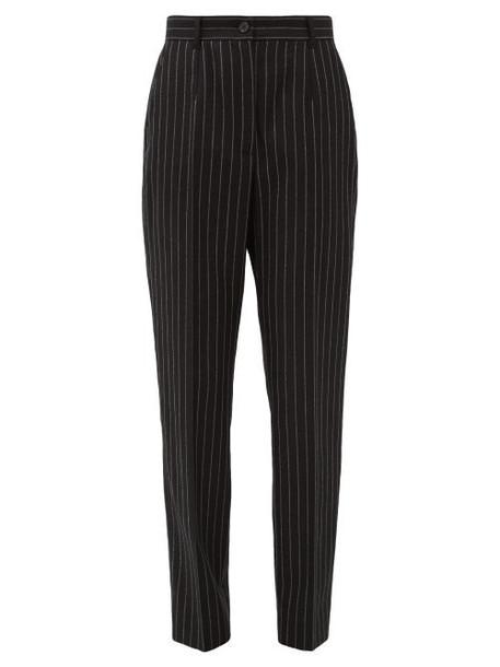 Dolce & Gabbana - Chalk-stripe Slim-fit Wool-blend Trousers - Womens - Grey Multi