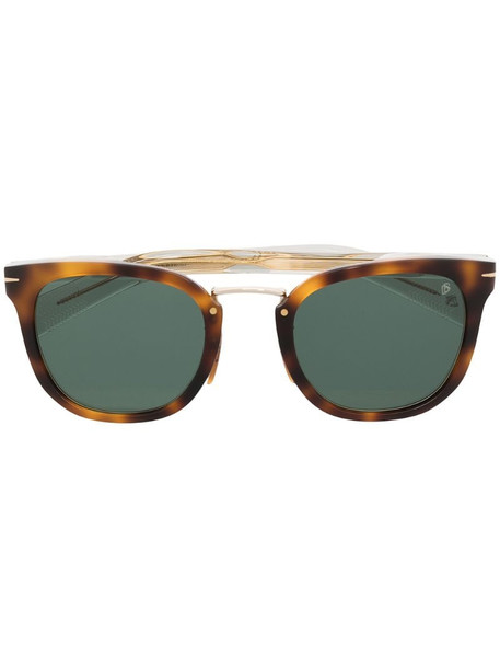Eyewear by David Beckham tortoiseshell square sunglasses in brown
