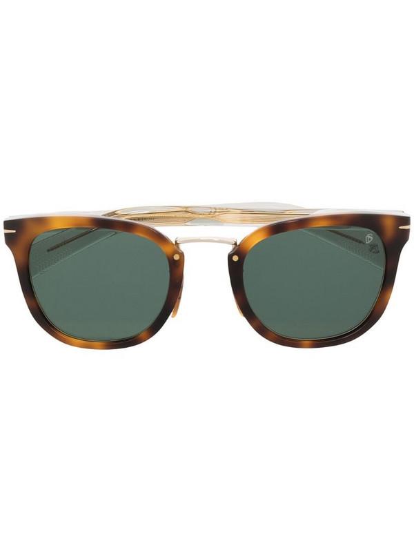 Eyewear by David Beckham tortoiseshell square sunglasses in brown