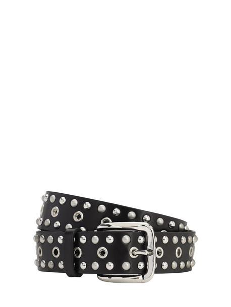 ISABEL MARANT 35mm Rica Leather Belt in black