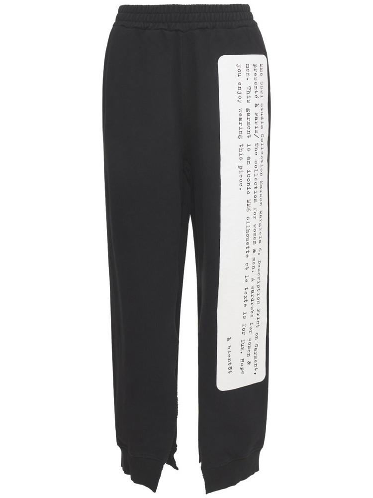 MM6 MAISON MARGIELA Unbrushed Basic Sweatpants in black