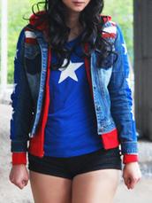 top,chavez,miss america,star logo,women,crop tops