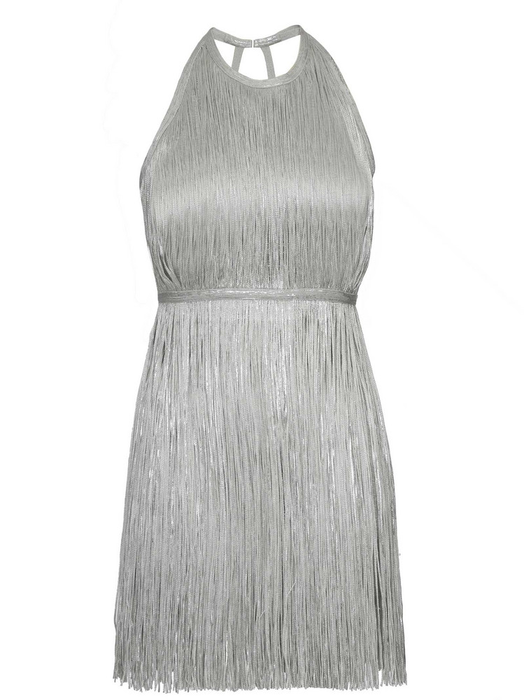 c53503ef3a4 HERVE LEGER V Neck Bi Metallic Foil Bandage Dress « Lynda on the Hudson