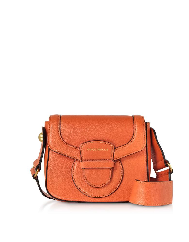 Coccinelle Vega Small Leather Shoulder Bag in orange