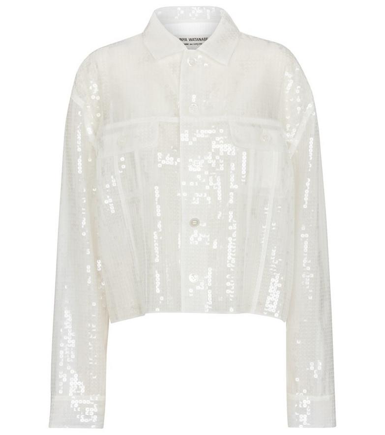 Junya Watanabe Sequined jacket in white