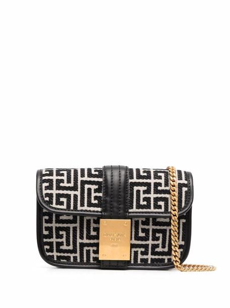 Balmain 1945 monogram belt bag - Black