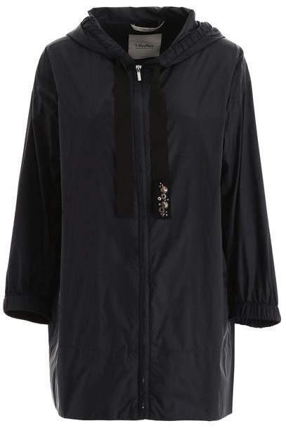 Max Mara Studio Taffeta Short Raincoat in black