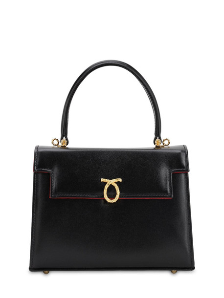 LAUNER Judy Smooth Leather Bag in black