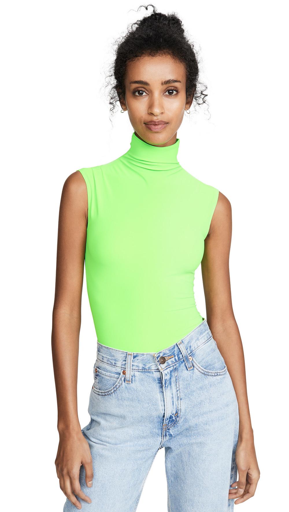Alix Denton Thong Back Bodysuit in green