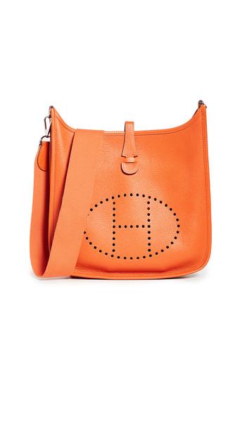 What Goes Around Comes Around Hermes Orange Clem Evelyne II PM Bag