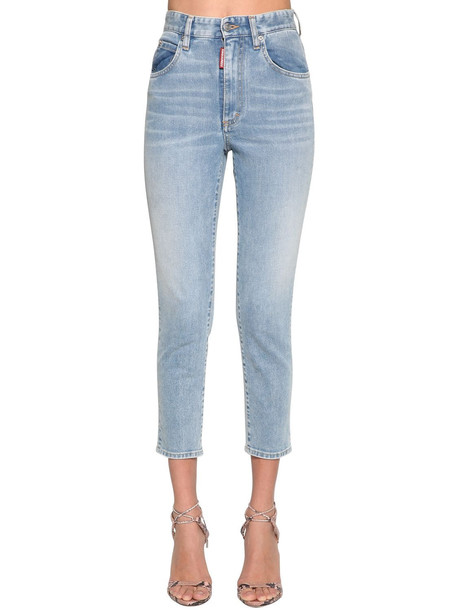 DSQUARED2 Twiggy Cropped Denim Jeans in blue
