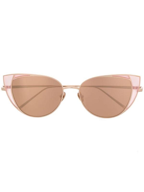 Linda Farrow 855 C6 sunglasses in gold