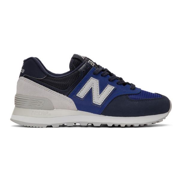 New Balance Navy 574 Sneakers