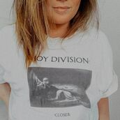 top,music,joy division,music tshirt,band tshirts,band t-shirt,celebrity,streetstyle
