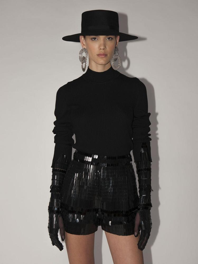 ALBERTA FERRETTI Lvr Exclusive High Collar Sweater in black