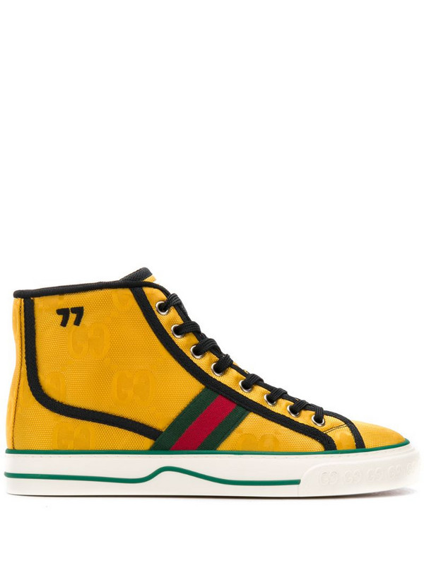 Gucci Off The Grid high-top GG Tennis 1977 sneakers in yellow