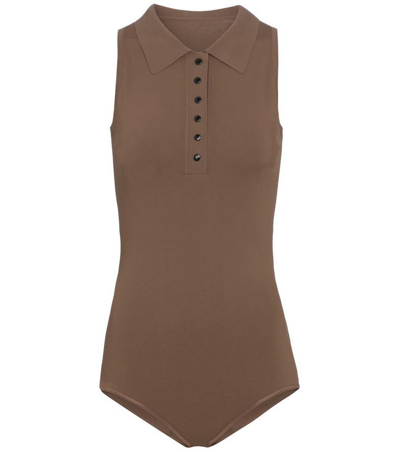Alaïa Knit bodysuit in beige