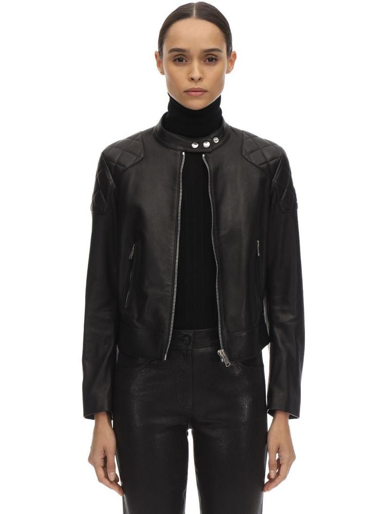BELSTAFF Belhaven Leather Biker Jacket in black