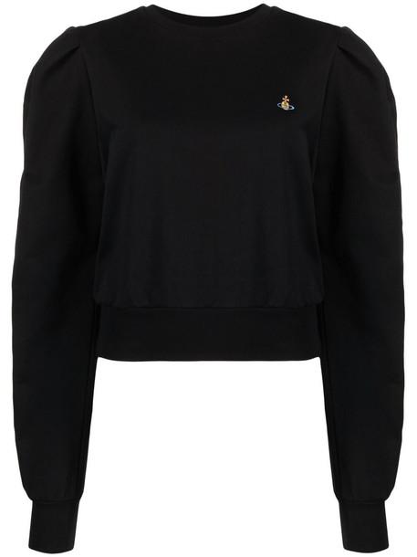 Vivienne Westwood puff-sleeve cotton sweatshirt - Black