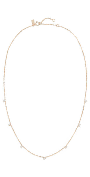 EF Collection 14k 7 Prong Set Diamond Necklace in gold / yellow