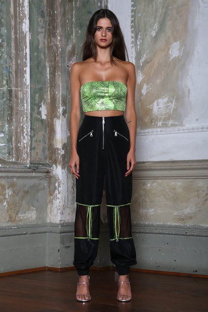 I Am Gia GWEN PANT - BLACK/GREEN