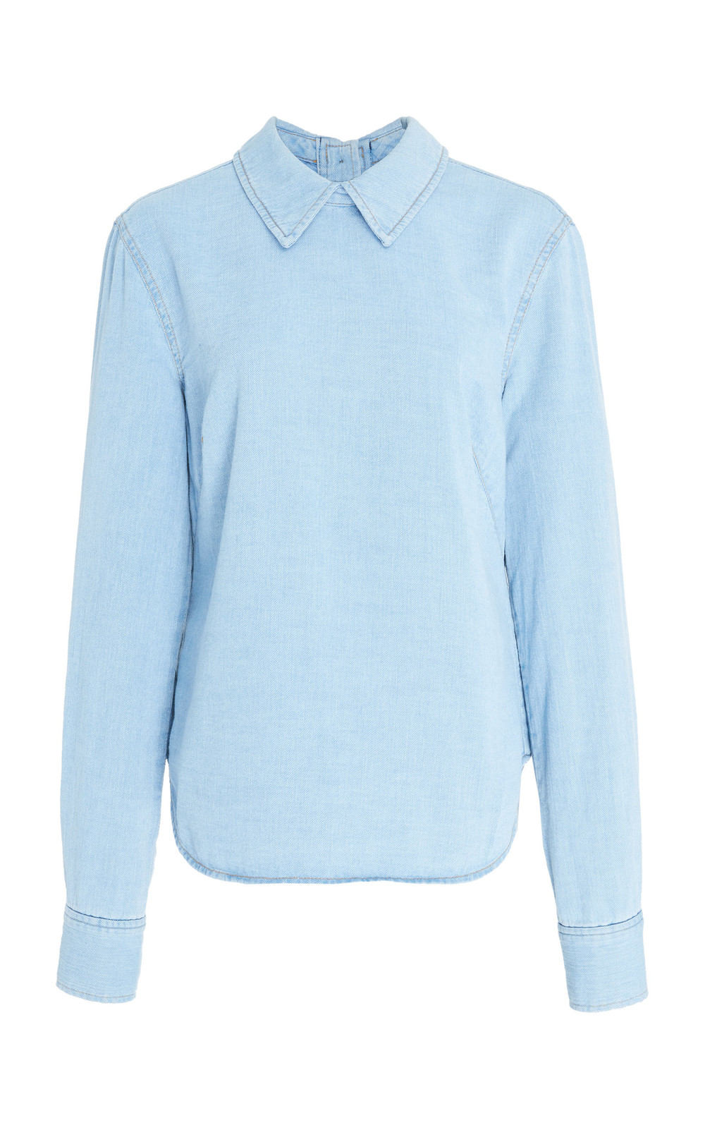 Rachel Comey Cotton-Chambray Top in blue