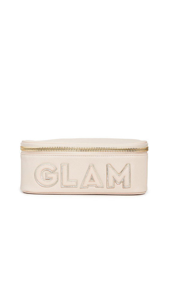 Stoney Clover Lane Glam Mirror Open Top Pouch in sand