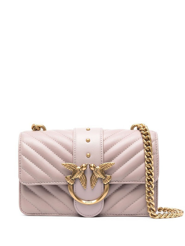 Pinko quilted shoulder bag in pink