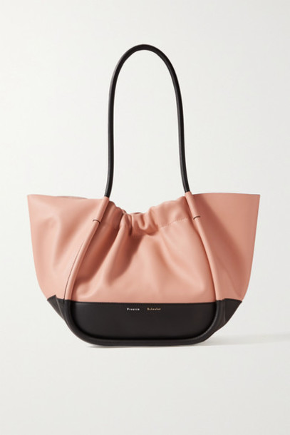 Proenza Schouler - Ruched L Two-tone Leather Tote - Antique rose