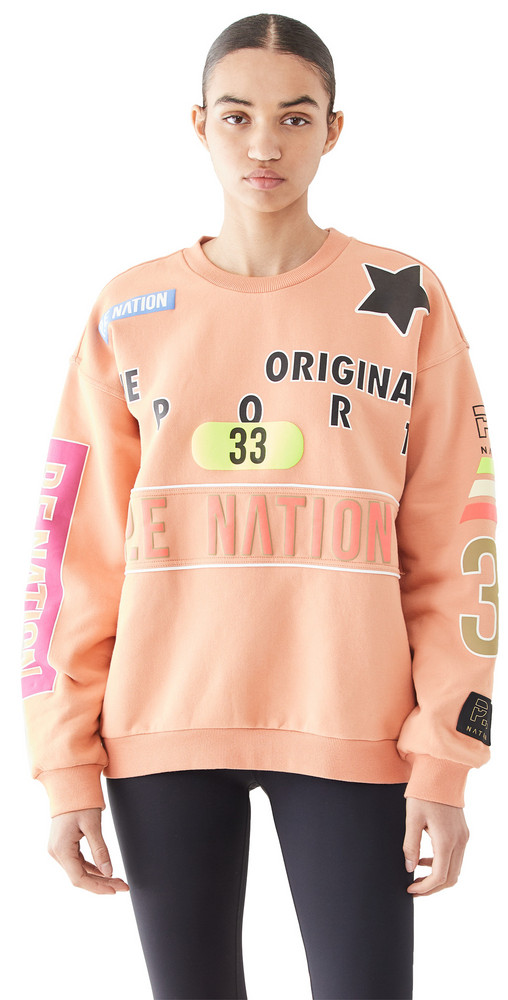P.E NATION Eastbrook Sweatshirt in peach