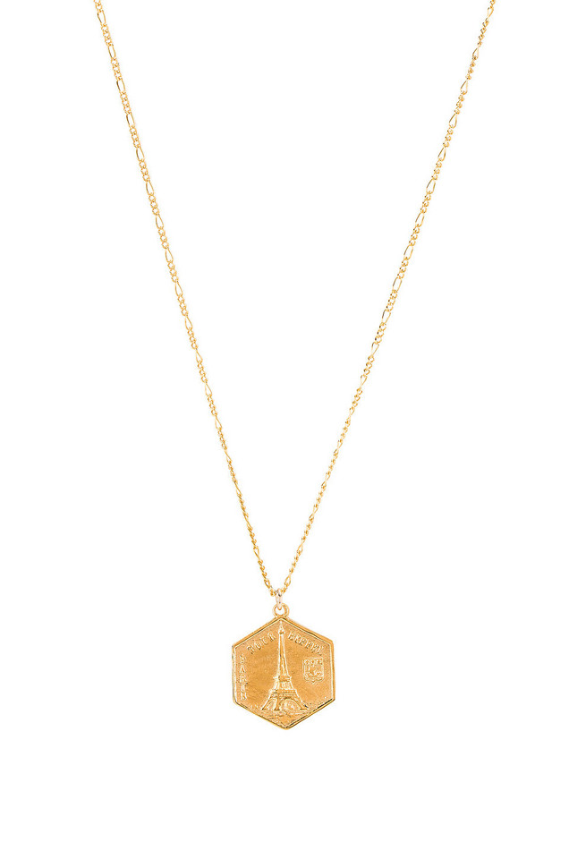 Natalie B Jewelry Tour De Eiffel Necklace in gold / metallic