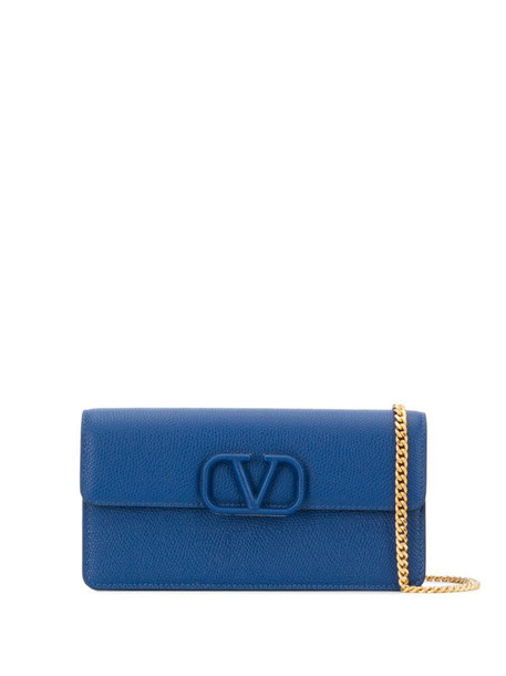 Valentino Garavani VSLING pebbled shoulder bag in blue